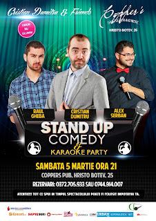 Stand-Up Comedy Sambata 5 Martie Bucuresti & Karaoke Party