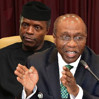 CBN Counters VP Osinbajo, Says Recession Not 100 metres Race