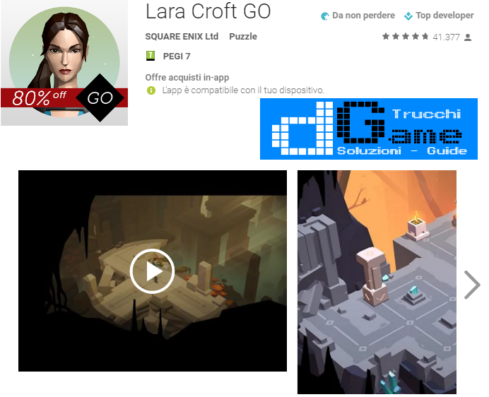 Soluzioni Lara Croft Go Capitolo 1 livello 1-2-3-4-5 | Trucchi e Walkthrough level
