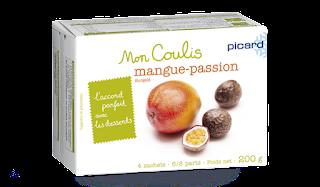 boîte de sachets coulis mangue passion surgelé picard