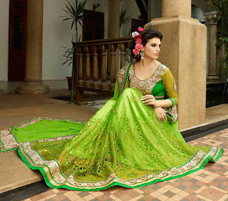 Stylish-indian-embroidered-bridal-saree-2017-for-brides-1