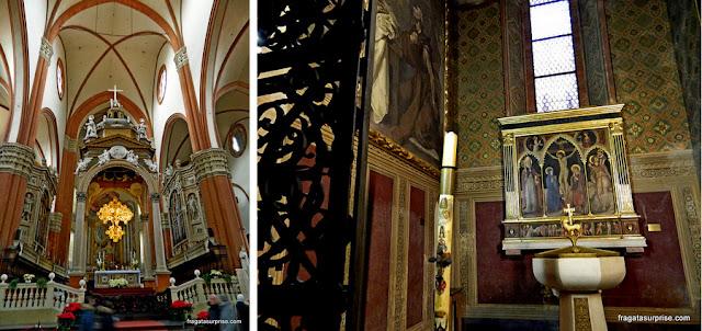 Interior da Basílica de São Petrônio, Bolonha, Itália