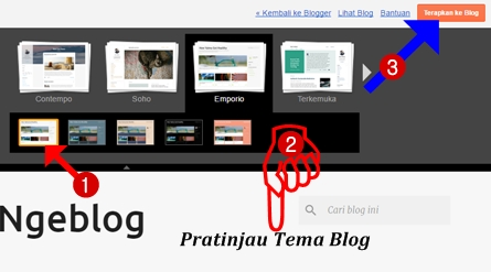 Terapkan ke blog