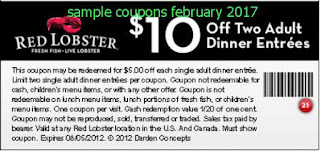Red Lobster coupons for february 2017