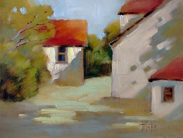 Рисунки акварелью и маслом. Joyce Hicks 17