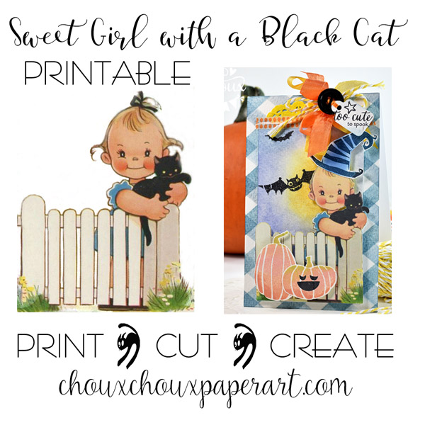 Distress Ink Halloween Background + Dress Up an Image with Stamps