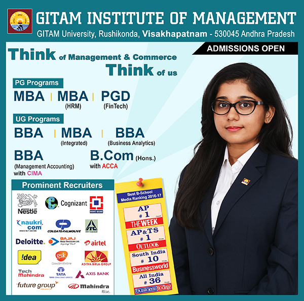 APPLY NOW -  GITAM INSTITUTE OF MANAGEMENT