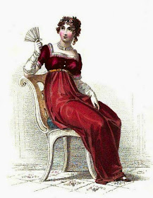 Evening dress  from Ackermann's Repository (Dec 1813)