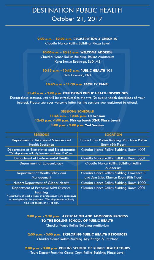 Emory Calendar.Uva Pre Health Advising Blog Destination Public Health Emory