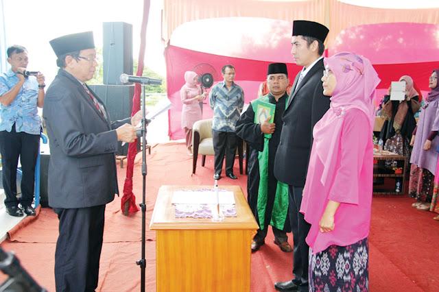PDAM Kota Padang, 44 Orang Pejabat Dikukuhkan Guna Mengisi SOTK Baru Yang Lebih Kuat