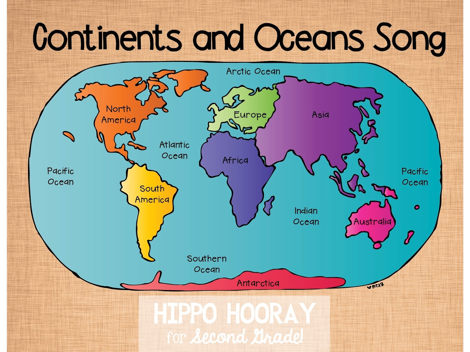 Continents/Ocean Song (and Video!) - Hippo Hooray for Second