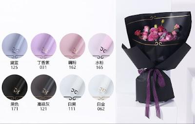 Kertas Buket Bunga / Flower Bouquet Wrapping Paper (Seri HX WK)