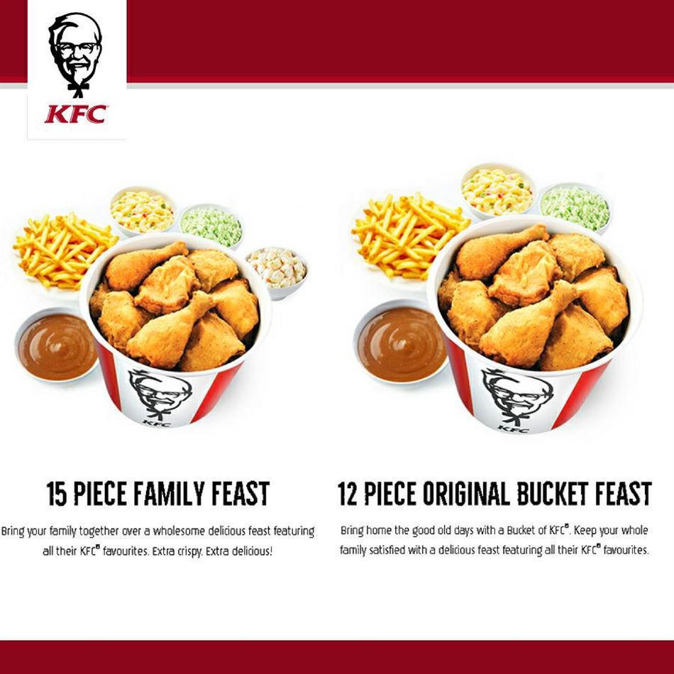 What are some KFC bucket specials?