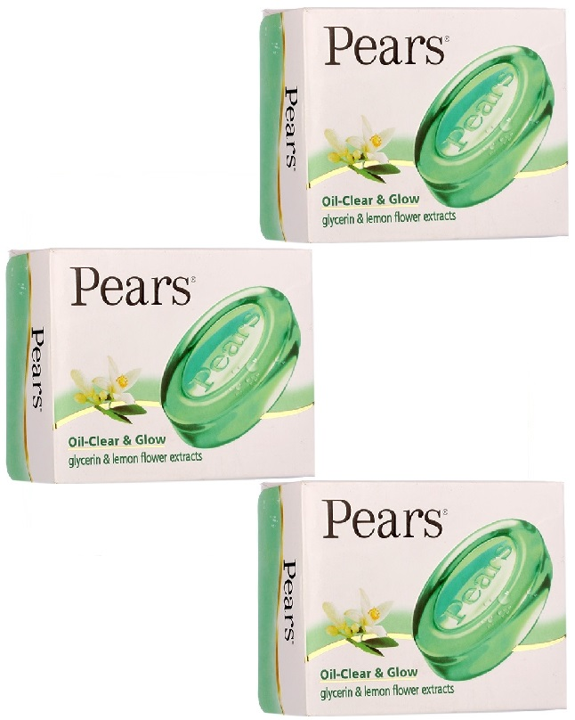 Pack Of 3 - Pears Oil Clear & Glow Soap 125 g