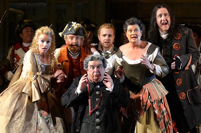 ENO - Rossini: Barber of Seville - Sarah Tynan, Eleazar Rodriguez, Alan Opie, Morgan Pearse, Yvonne Howard, Alastair Miles (c) Robbie Jack
