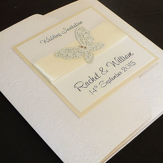Wedding Invitations for 2015 weddings - Ivory Butterfly Invites