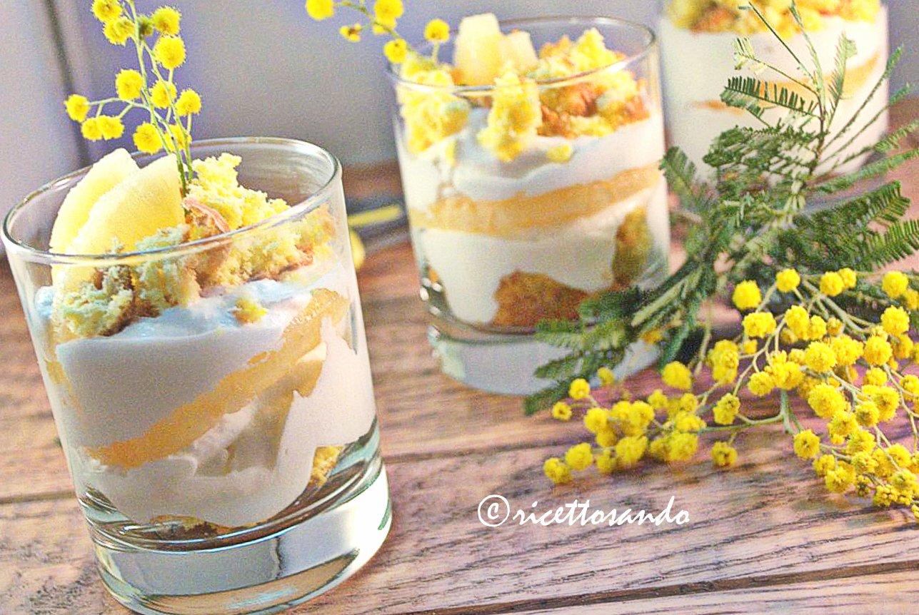 Le mimosette ricetta di  mosse per l'8 marzo