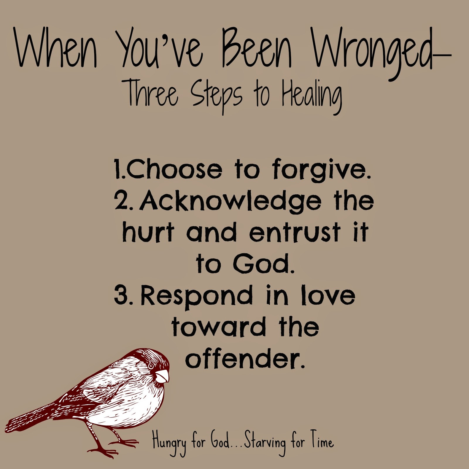 Where Is God When It Hurts Quotes: Hungry For God: When You've Been Wronged--3 Steps To Healing