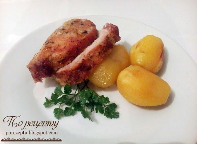 Мясо запеченное с картошкой