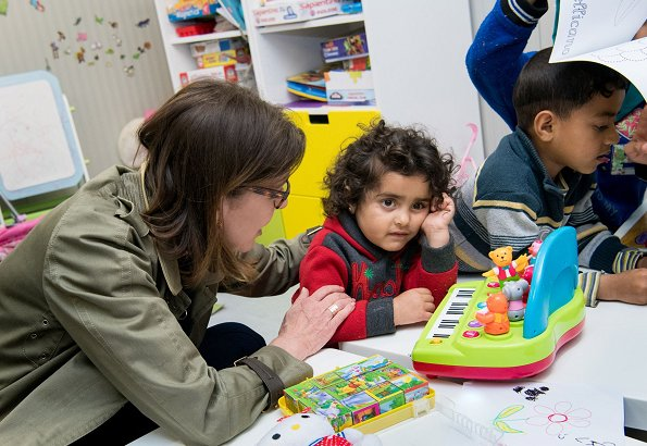 AMADE president Princess Caroline of Hanover and Beatrice Borromeo Casiraghi visited Campo Roya Mother-Child Centre in Ventimiglia