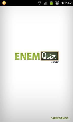 Provas do ENEM: Aplicativo para Android - Carregando o app
