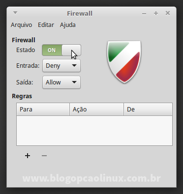 Ativando o Firewall (Gufw) no Linux Mint Debian Edition 2