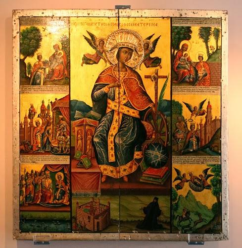 Εικόνα με σκηνές από τη ζωή της αγίας