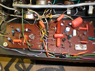 dark red circuit boards Echoplex ep3 service red ep4 repair tape echo delay TIS98 Playback
