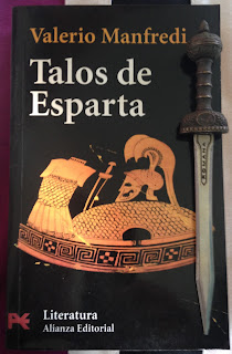 Portada del libro Talos de Esparta, de Valerio Massimo Manfredi