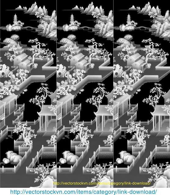 Mẫu Đền vector trạm khắc.