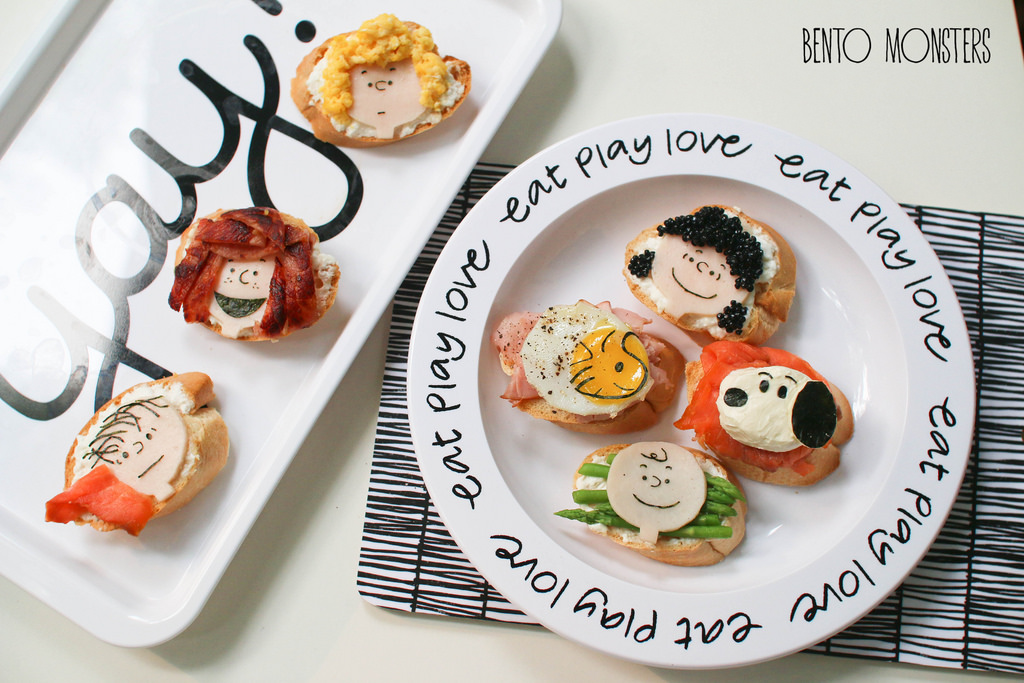 10-Peanuts-Baguette-Li-Ming-Lee-Kyaraben-Bento-Monsters-Themed-Lunch-Art-www-designstack-co