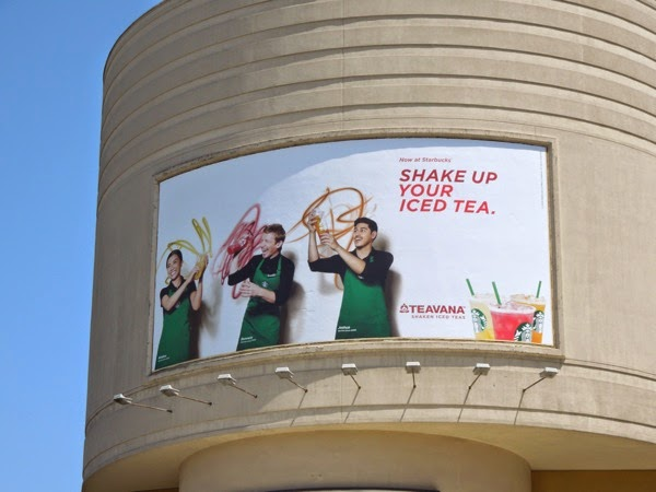 Starbucks Shake up your iced tea billboard