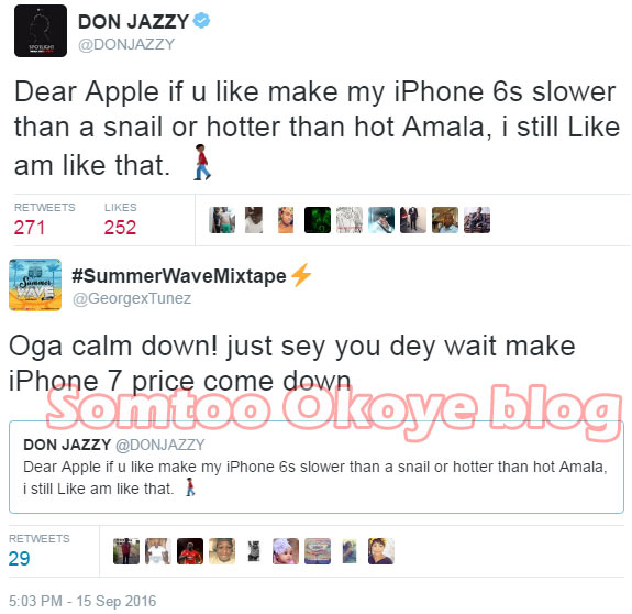 Wicked Twitter user roasts Don Jazzy over Apple iPhone 7