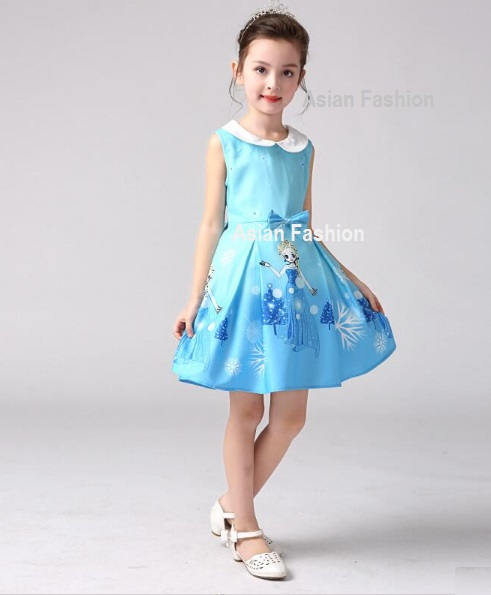 Moda Kids Asian Fashion Vestido Frozen Para Niña De 2 A 8