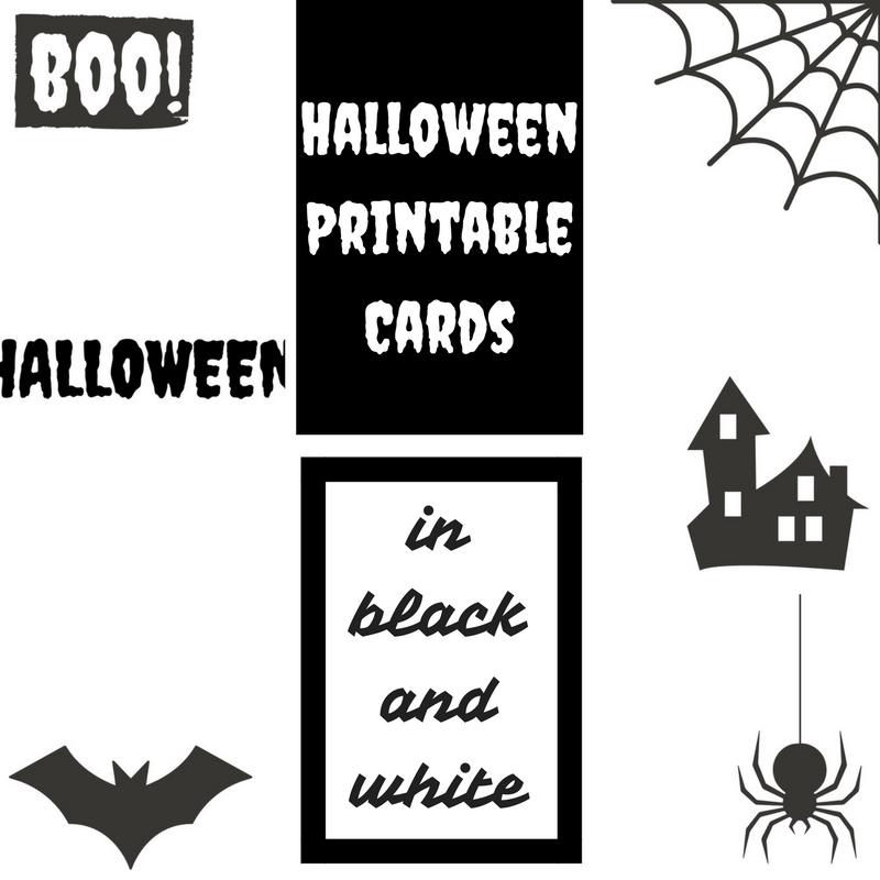 picture about Free Printable Halloween Cards referred to as Halloween printable playing cards within black and white Holding it Genuine