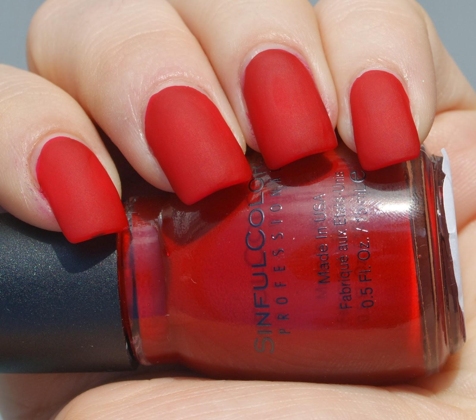 red matte nail polish
