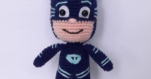 Crochet Catboy from PJ Masks lovey | Crochet crafts, Crochet ... | 267x509