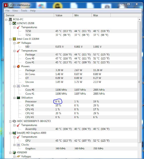 برنامج تحليل جهازك لمعرفة نسبة استخدام cpu وكرت الشاشة لكشف التعدين عن طريق الماينر
