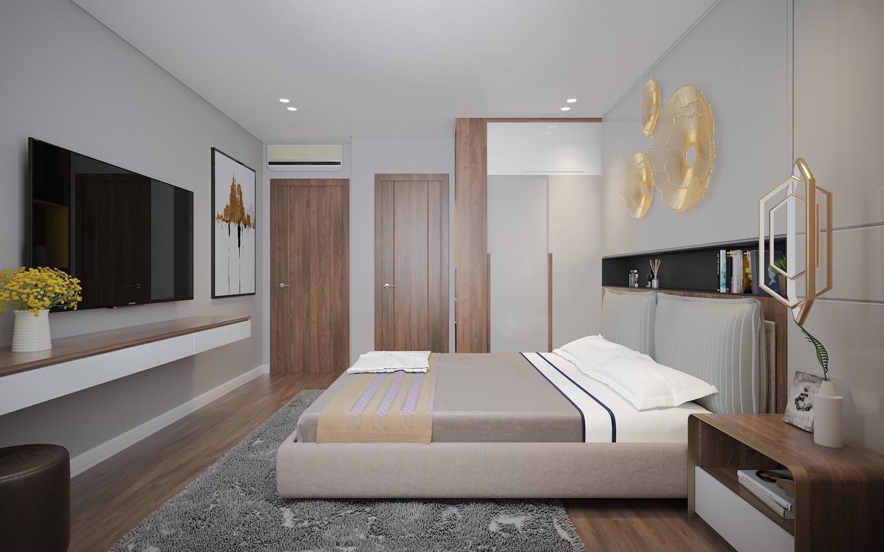 Thiết kế Phòng ngủ Master căn hộ Rivera Park  Hà Nội