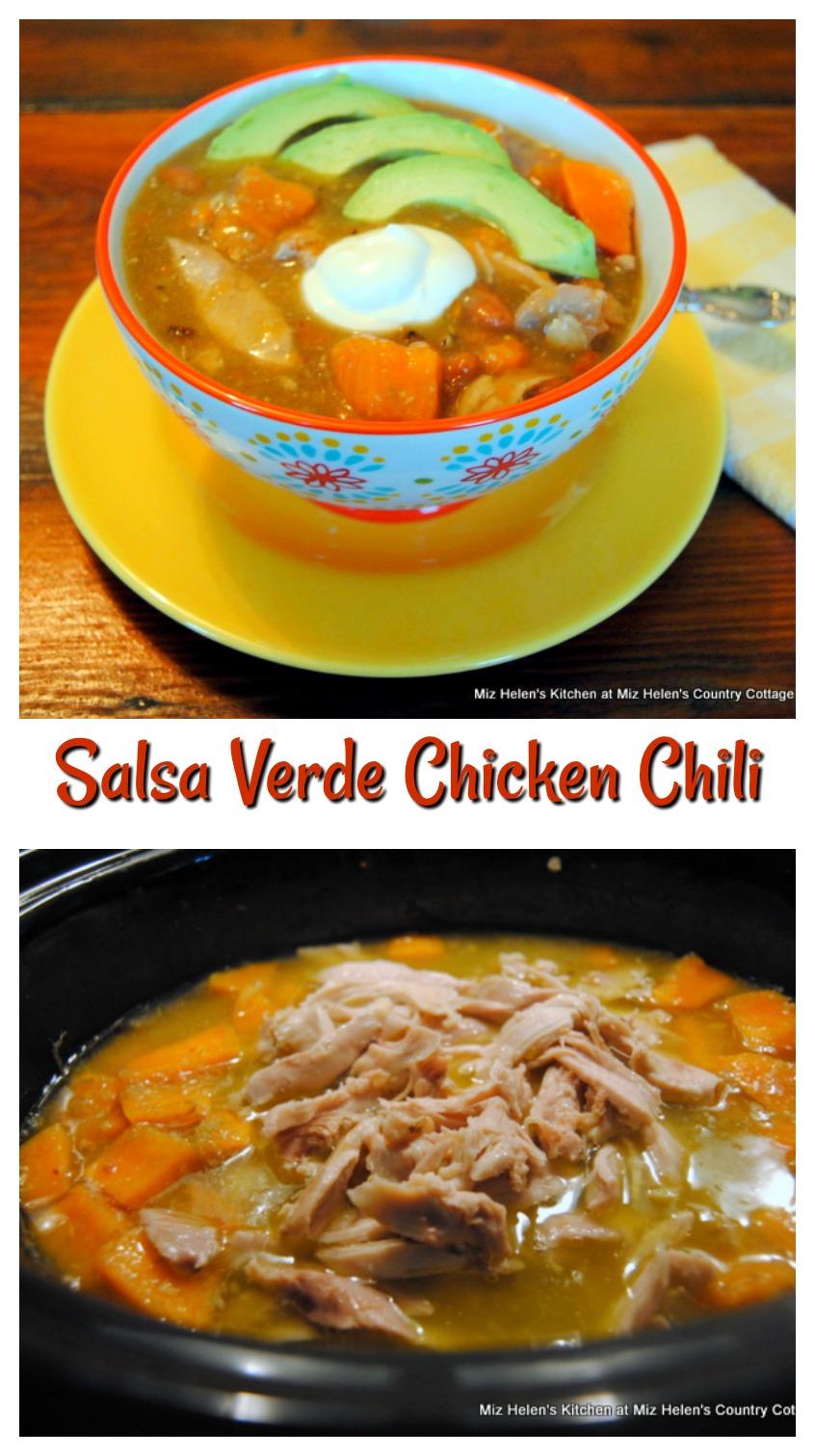 Slow Cooker Salsa Verde Chicken Chili