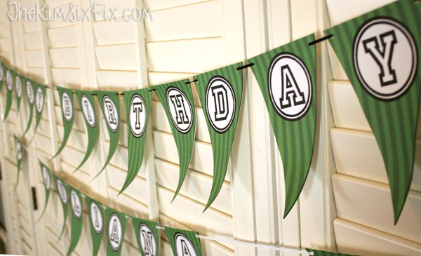 Printable Birthday Banner ~ Soccer birthday party and free printables the kim six fix