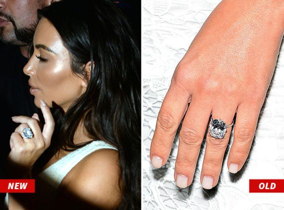 Kanye West Gets His Wife Kim Kardashian, A New Huge Diamond Engagement Ring