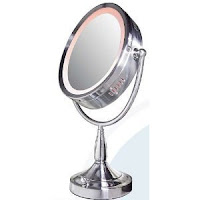 Pedestal Mirror Large Oval Beveled Edge