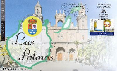 Sobre Primer Día del sello dedicado a Las Palmas de Gran Canaria