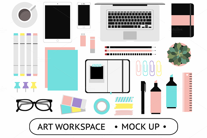 Art Workspace Mockups - lokko studio