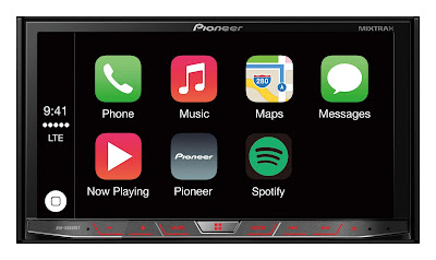 Source: Pioneer Electronics AsiaCentre. Apple CarPlay on the AVH-X8850BT.