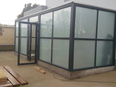 Cerramiento de aluminio y cristal en Garrapinillos (Zaragoza)