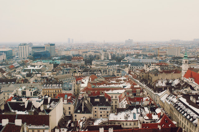 Views from the South Tower of St Stephen's, Vienna