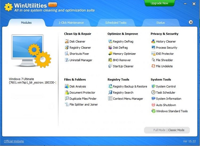 WinUtilities Features