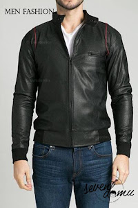 seven domu sk24 men leather jacket